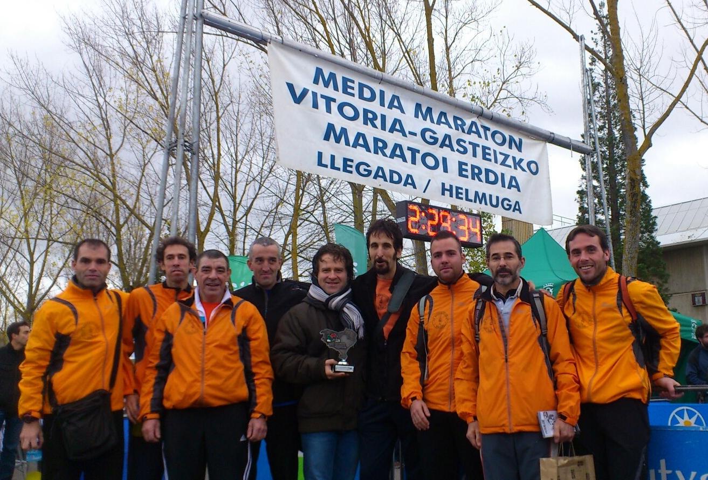 Subcampeones de Euskadi 2012 Media Maraton por equipos